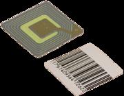 рч этикетка ложный штрих код, размер 40х40 мм, квадратная