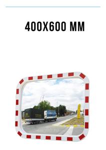 Зеркало дорожное со световозвращающей окантовкой 400х600 мм