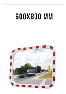 Зеркало дорожное со световозвращающей окантовкой 600х800 мм