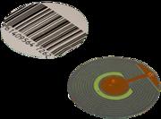 радиочастотная круглая этикетка, размер 40 мм